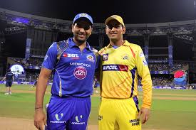 MI vs CSK IPL cricket match with both team captain