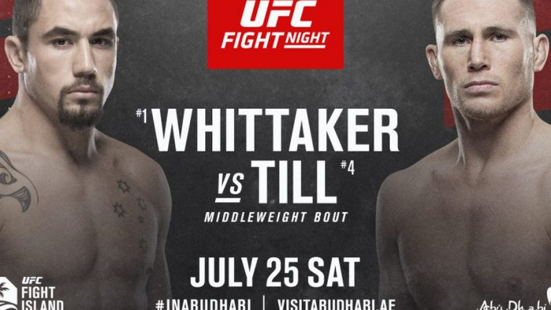 Whittaker vs Till Live stream Today on Reddit UFC Fight Night 174 PPV, ESPN+ in USA