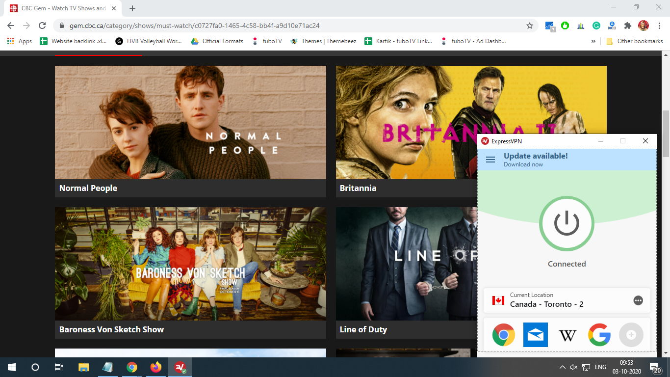 cbc canada live stream page work with VPN
