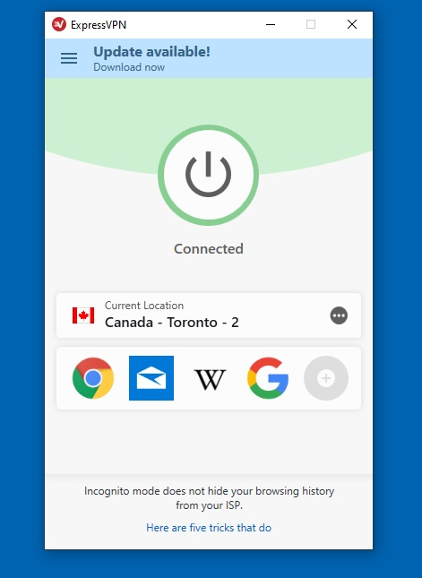 connect to canada location from expressvpn server list